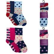 Ladies 3 Pack Cotton Rich Design Socks (SK402)
